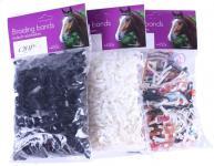 QHP Mähnengummi Mähnengummis extra stark ca. 450 Stück im Beutel 3 Farben
