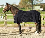 Harry's Horse Sommerdecke Polycotton schwarz two tone Biese Gehfalte Kreuzgurte