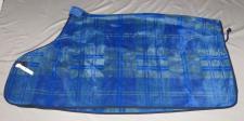 Hochwertige Fleecedecke superweich Abschwitzdecke 145 cm kariert blau-grau