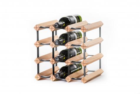"Marken Holz Weinregal RAXI ""Classic"" für 12x Flaschen"