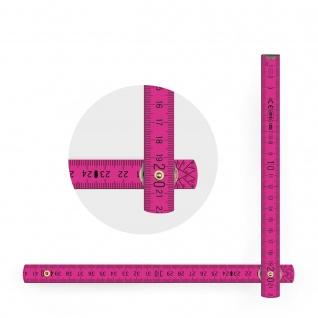 Zollstock Metrie Block 52 - 2m rosa (PAN Rhodamine Red) - Vorschau 4