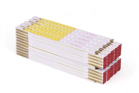 Zollstock Metrie Perfekt 10 - 2m weiß-gelb 10 stück