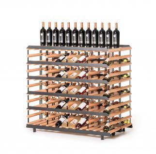 """Marken Holz Weinregal RAXI """"Präsentation"""" für 120 Flaschen - Vinothek Regal"""
