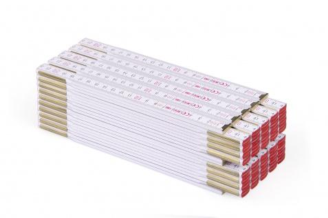 Zollstock Metrie Profi 10 - 2m weiß 10 stuck