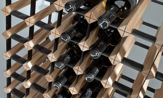 """Marken Holz Weinregal RAXI """"Classic"""" für 42 Flaschen - Vorschau 3"""