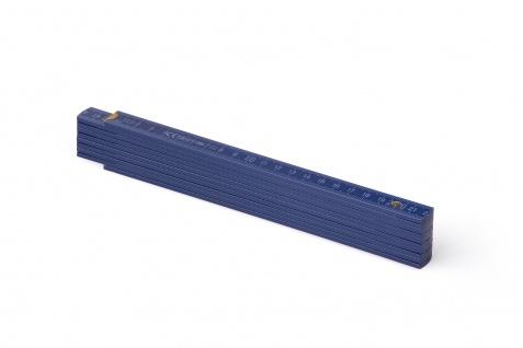 Zollstock Metrie Block 52 - 2m dunkelblau (PAN 534), Skalierung weiß