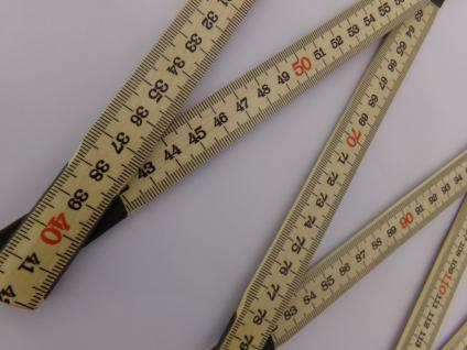 10x Schwedenmeter | Gliedermaßstab | Zollstock | Meterstab | SB - natur-GB - 2m