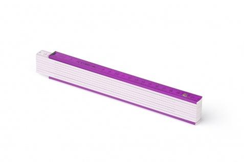 Zollstock Metrie Block 52 - 2m violett weiß (PAN 512)