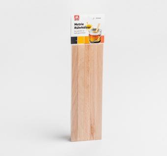 10x Rührholz | Spatel | Farbrührspatel | Bastelholz - 258x16x3, 2 mm