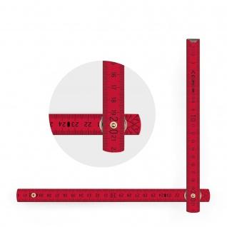 Zollstock Metrie Block 52 - 2m rot (PAN193) - Vorschau 2