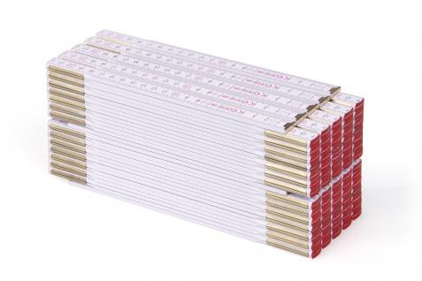 Zollstock Metrie Profi 15 - 3m weiß 10 stück