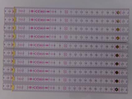 10x Zollstock 3m - Gliedermaßstab | Meterstab - Bl73 weiss - Fehldruck