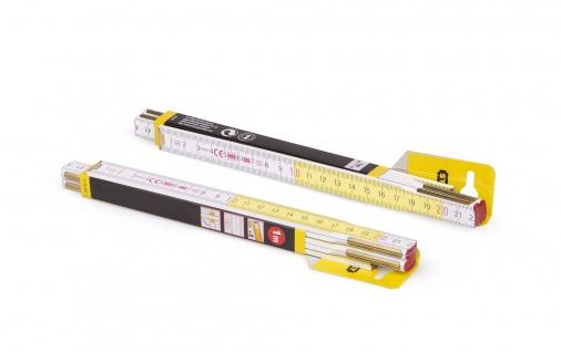 Zollstock Metrie Profi 5 - 1m weiß-gelb 20 stück