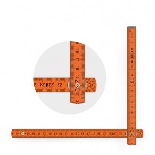 Zollstock Metrie Block 52 - 2m orange (PAN 166C) - Vorschau 4