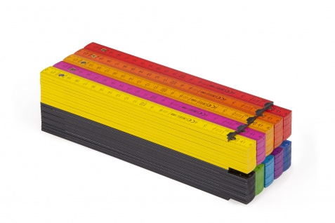 Zollstock Metrie Block 52 - 2m Farbig mix 10 stück