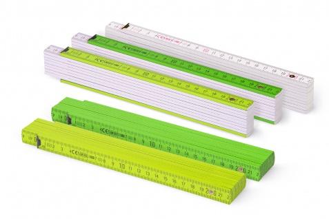 Zollstock Metrie Block 52 - 2m Farbig mix 5 stück grün/weiss - Vorschau 1