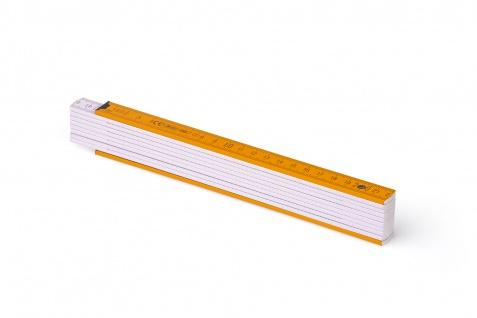 Zollstock Metrie Block 52 - 2m orange weiß (PAN1375) - Vorschau 1