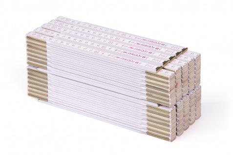 Zollstock Metrie Profi 15 - 3m weiß 10 stück, B-Ware