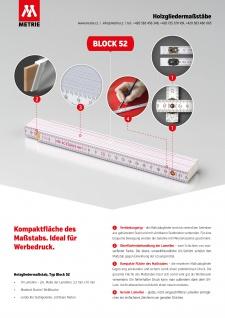 Zollstock Metrie Block 52 - 2m Ockerfarbe (PAN 139) - Vorschau 5