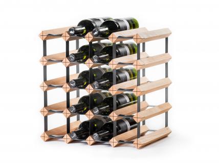 "Marken Holz Weinregal RAXI ""Classic"" für 20x Flaschen"