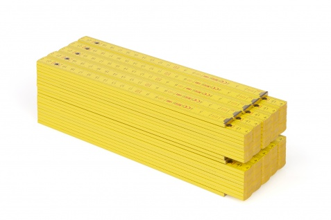 Zollstock Metrie Block 72 - 2m gelb 10 stück