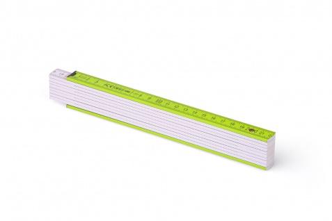 Zollstock Metrie Block 52 - 2m hellgrün weiß (PAN 367)