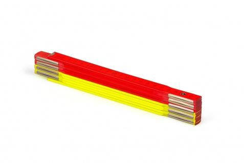Zollstock Metrie Perfekt 10 - 2m neon gelb rot