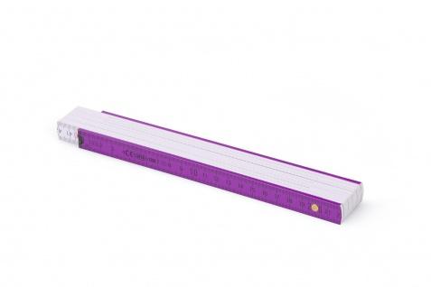 Zollstock Metrie Block 52 - 2m violett weiß (PAN 512) - Vorschau 2