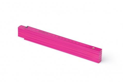 Zollstock Metrie Block 52 - 2m rosa (PAN Rhodamine Red) - Vorschau 1
