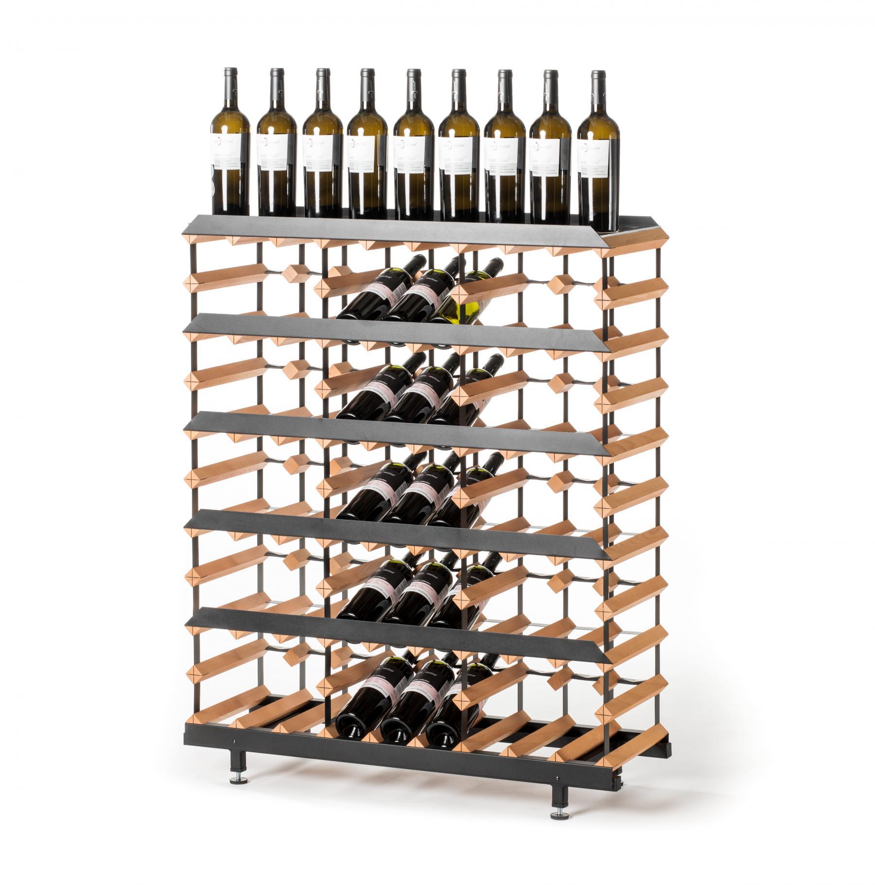 marken holz weinregal raxi pr sentation f r 45 flaschen. Black Bedroom Furniture Sets. Home Design Ideas