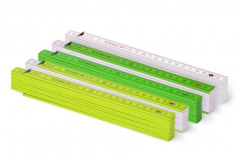 Zollstock Metrie Block 52 - 2m Farbig mix 5 stück grün/weiss - Vorschau 2