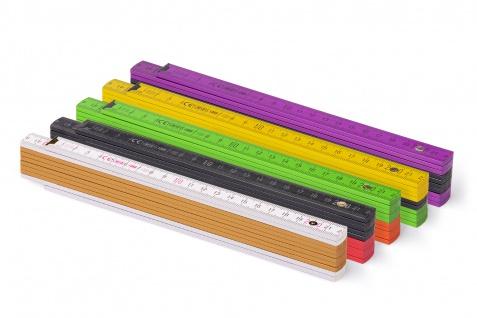Zollstock Metrie Block 52 - 2m Farbig mix 5 stück mix farbe - Vorschau 2