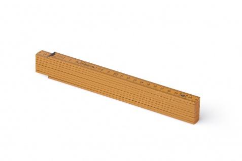 Zollstock Metrie Block 52 - 2m Ockerfarbe (PAN 139)