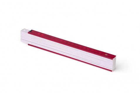 Zollstock Metrie Block 52 - 2m rot weiß (PAN 193)