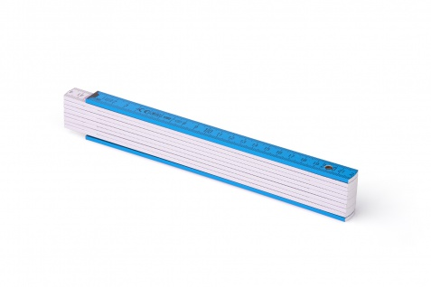 Zollstock Metrie Block 52 - 2m dunkelblau weiß (PAN ProcessBlue)