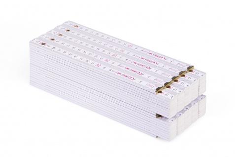 Zollstock Metrie Block 52 - 2m weiß 10 stück