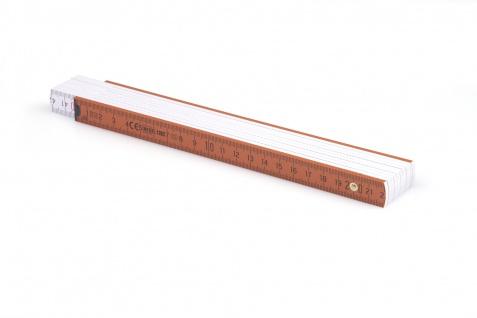 Zollstock Metrie Block 52 - 2m braun weiß (PAN 167)