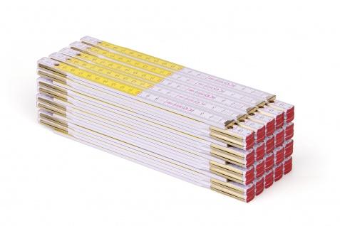 Zollstock Metrie Perfekt 5 - 1m weiß-gelb 20 stück