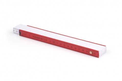 Zollstock Metrie Block 52 - 2m rot weiß (PAN 485)