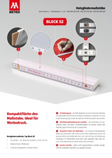 Zollstock Metrie Block 52 - 2m orange (PAN 166C) - Vorschau 5