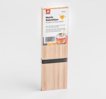 25x Rührholz | Spatel | Farbrührspatel | Bastelholz - 258x16x3, 2 mm