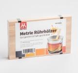 100x Rührholz | Spatel | Farbrührspatel | Bastelholz - 258x16x3, 2 mm