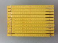 10x Zollstock | Gliedermaßstab | Schmiege | Meterstab | gelb - 2m