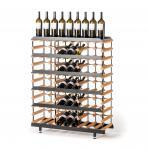 """Marken Holz Weinregal RAXI """"Präsentation"""" für 45 Flaschen - Vinothek Regal"""