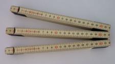 3x Schwedenmeter | Gliedermaßstab | Zollstock | Meterstab | SB - natur-GB - 2m