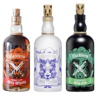 FeineHeimat 3er Probierset Blackforest Wild feinste Brände Whisky, Vodka, Gin