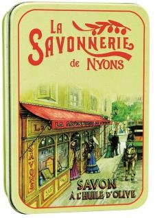 La Savonnerie De Nyons Seife in der Metalldose La Boutique Baumwollblüte