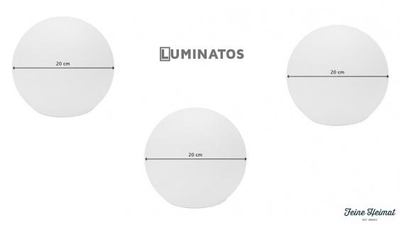 Luminatos 20, 3 x LED Leucht Kugel 20 cm 16 Farben mit Fernbedienung wasserdicht