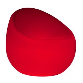 Luminatos BREMEN, LED Sessel beleuchtet mit Farbwechsel Fernbedienung Akku Betrieb Leuchtsessel