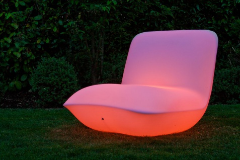 Luminatos 1.2 LED Sessel beleuchtet mit Farbwechsel Fernbedienung Akku Betrieb Leuchtsessel